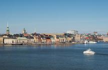 Inloppet till Stockholm och mot Skeppsbron